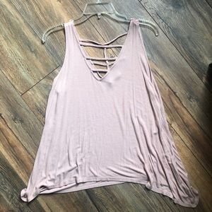 Strappy Dusty Rose tank top - Large